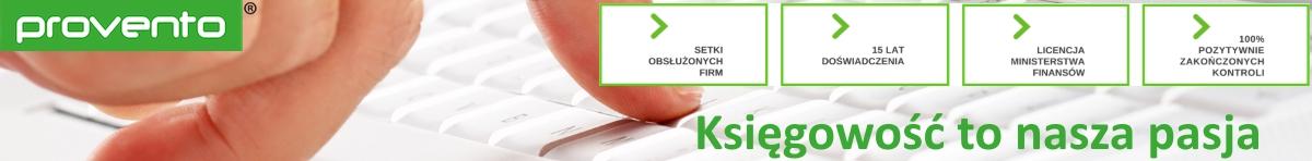 reklama firmy provento - profesjonalnego biuro rachunkowego w Krakowie